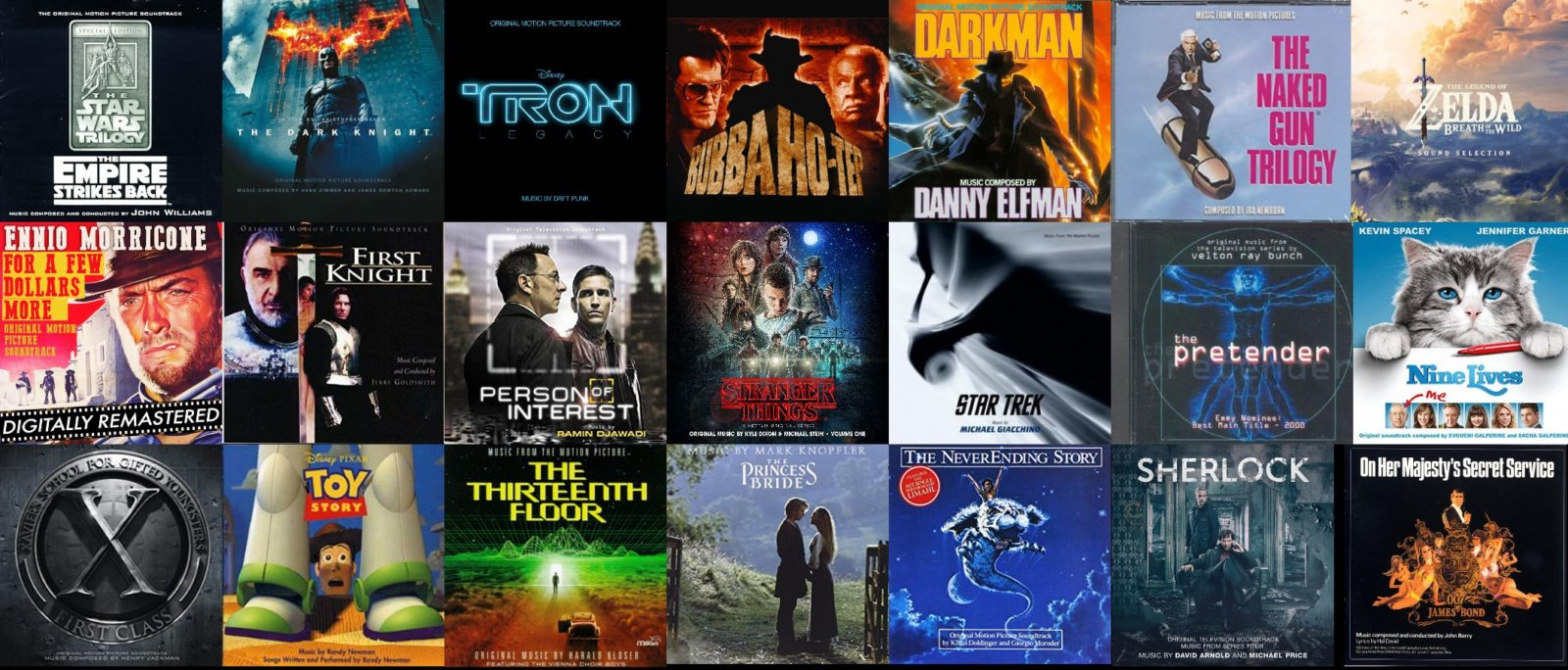 Soundtrack and Film Score Collage