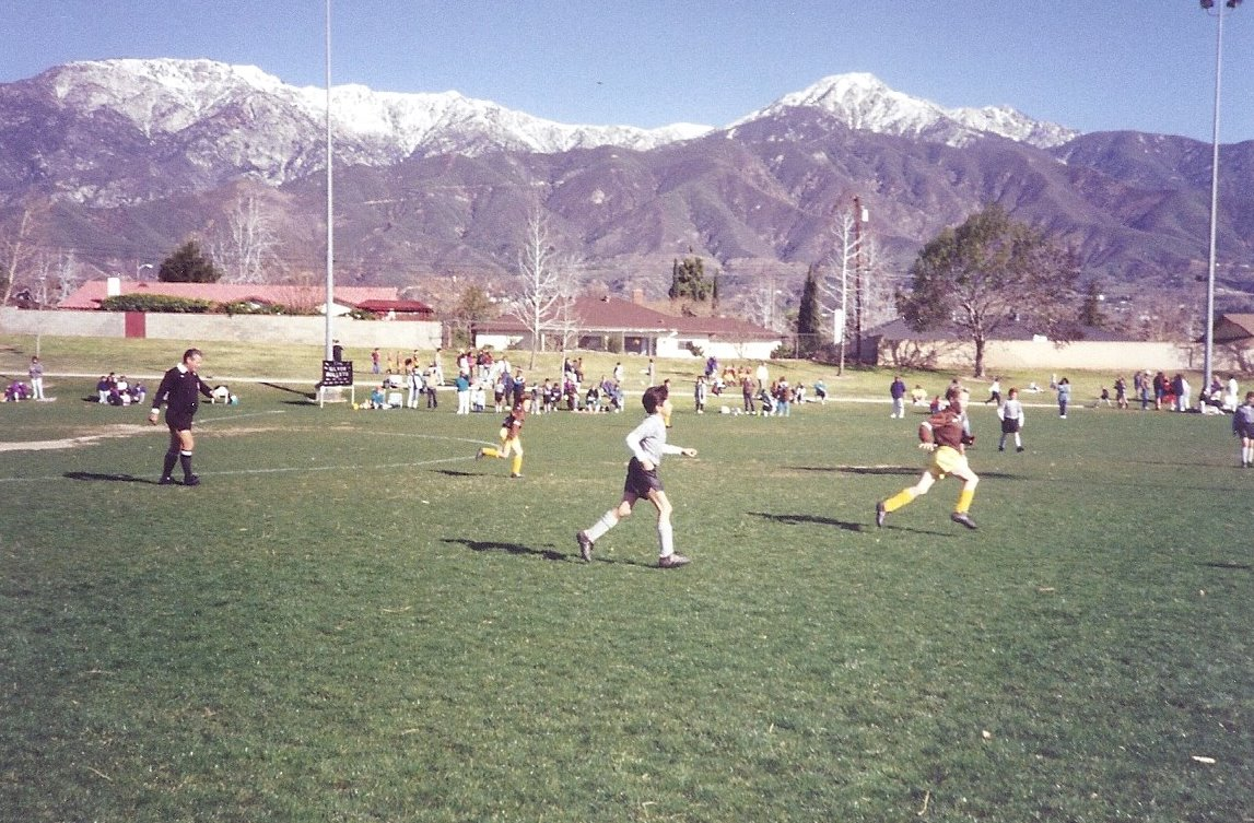 Golden Bears Soccer and the San Gabriel Mountains